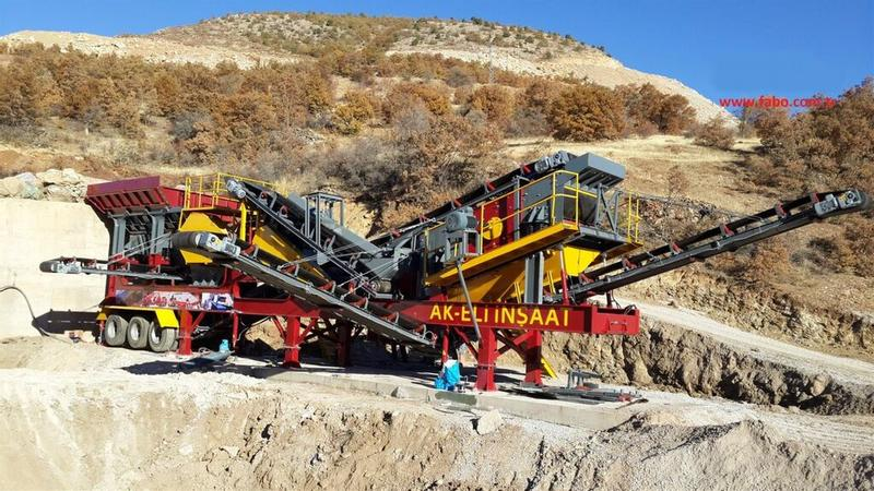Fabo MCK 60 | Jaw + Impact Crusher Crushing and Screening Plant | 60-